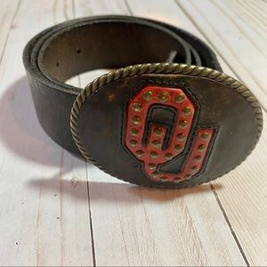{Fossil} leather OU belt